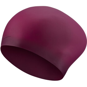 Nike Swim Solid Cuffia In Silicone Per Capelli Lunghi, night maroon